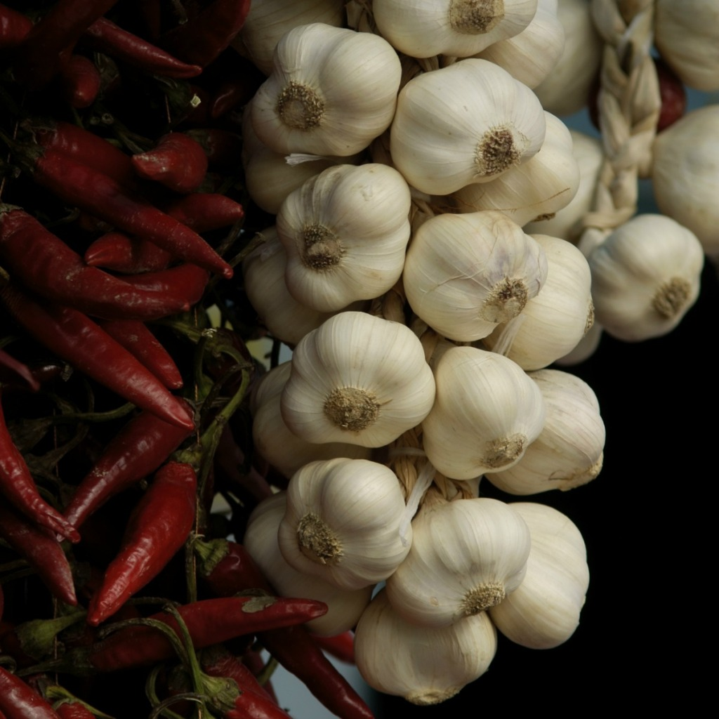 Chop garlic for allicin