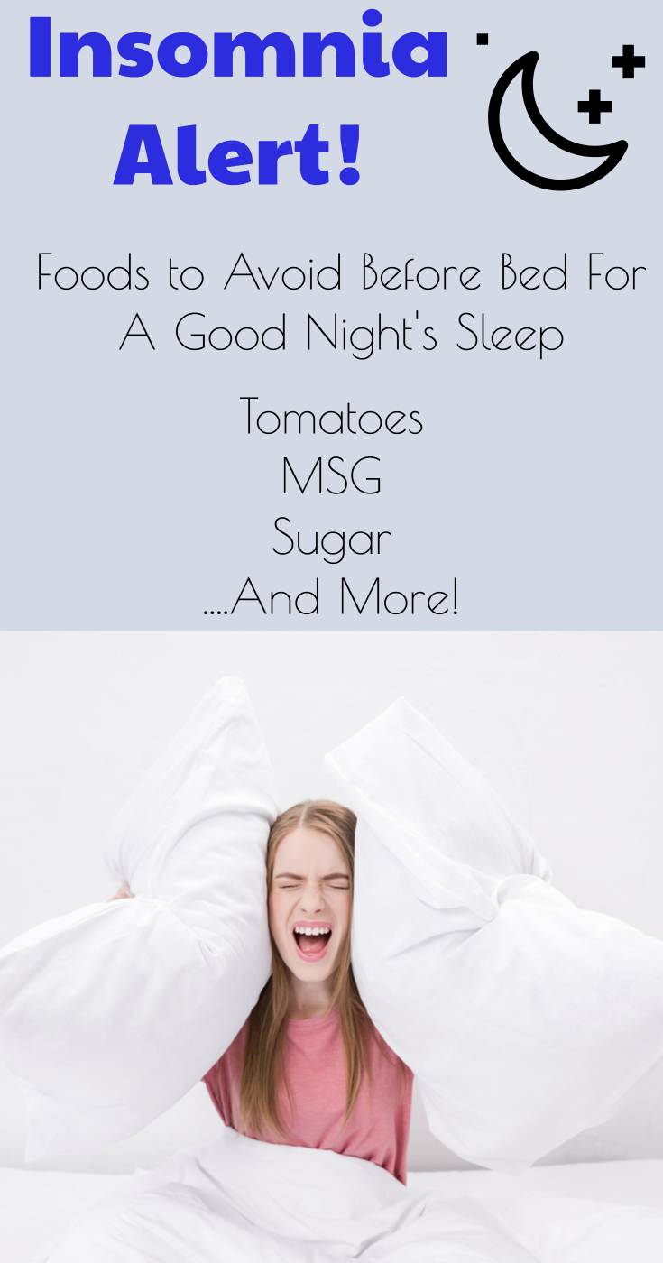 Insomnia alert! Foods to avoid before bed. (foods for good sleep/ improve your sleep/ get over insomnia/ why you can't sleep/ foods to relax/ relaxation techniques/ get over insomnia)