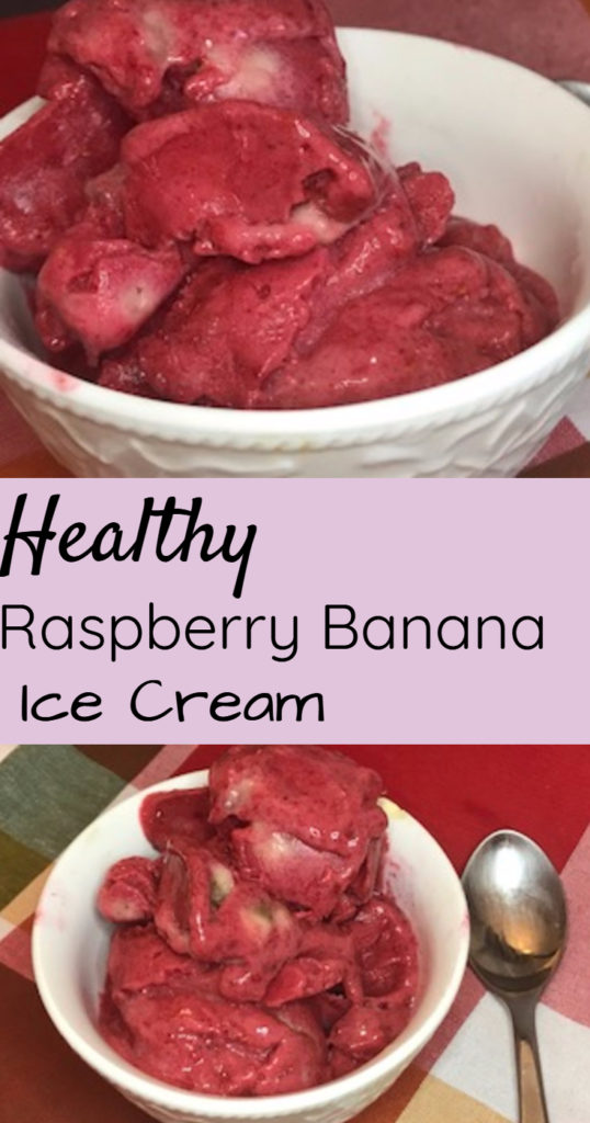 healthy raspberry banana ice cream