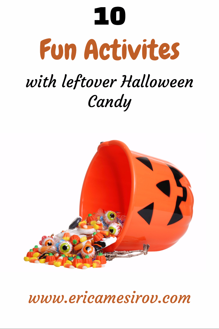 10 fun activities with leftover Halloween candy. Don't eat it! Create with it! (trickortreat- candycorn- activities- candy- games- kids- activities- adults- fun- holidays)