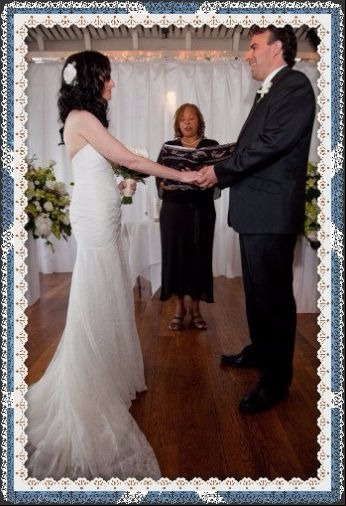 Photo of our vows - improved by using Fotor's amazing editing tools