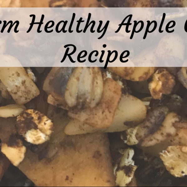 Apple Crisp: Low-Sugar, Slow Cook, & Gluten-Free!