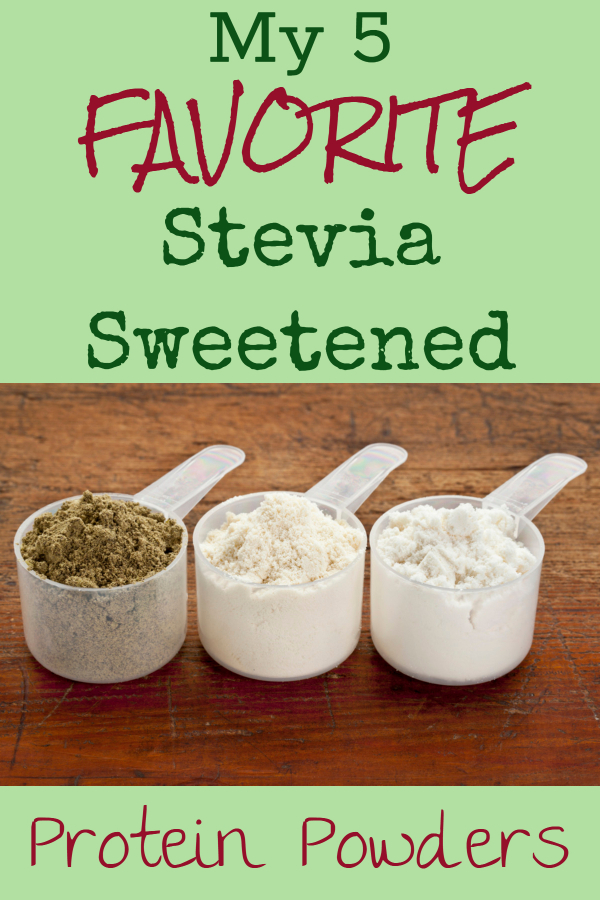 My 5 favorite stevia sweetened protein powders (healthy smoothie/ weight loss smoothie/ vegan protein/ vegan protein powder/ whey protein powder/ Stevia / stevia sweetened smoothie/ stevia sweetened smoothie/ best protein powders. healthiest protein powders/ diet snacks/ weight loss snacks/ smoothie recipes)